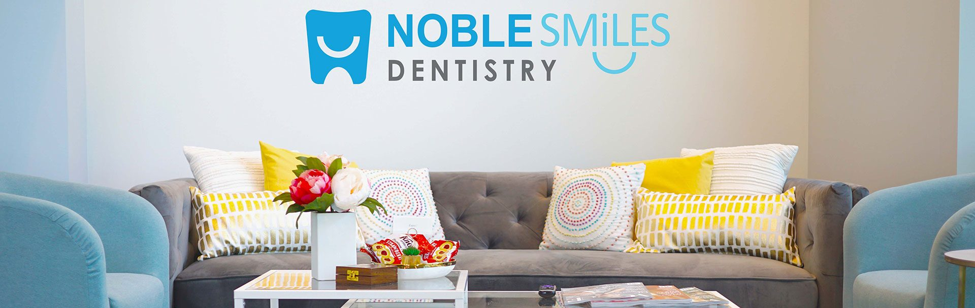 a photo of the front office at noble smiles dentistry in noblesville in